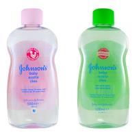 【義大利 Johnsons 嬌生】嬰兒潤膚油-原始香味(16.9oz/500ml)*2+蘆薈清爽(16.9oz/500ml)*2