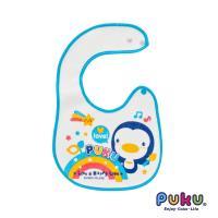 任-PUKU藍色企鵝 - 釘釦圍兜(水色)