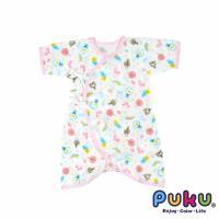 任-PUKU藍色企鵝 - 印花紗布蝴蝶裝60cm(粉色)