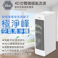 【樂司科 Lasko】AirWhite 極淨峰靜電集塵臭氧負離子空氣清淨機 A534TW
