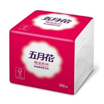 五月花 單抽式衛生紙250張x48包