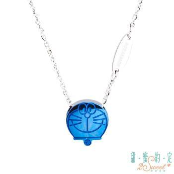 甜蜜約定 Doraemon 夢想島哆啦A夢白鋼項鍊-藍