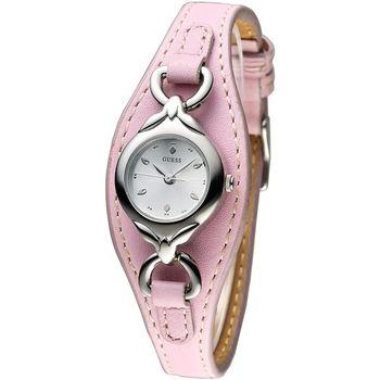 GUESS 粉色心樂園時尚造型女錶-粉紅(60421L3)