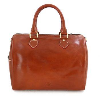 Sika義式時尚真皮復古枕頭包 M6010A–01原味褐