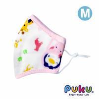 任-PUKU藍色企鵝 - 紗布抗菌口罩M(粉色)