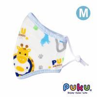 任-PUKU藍色企鵝 - 紗布抗菌口罩M(水色)