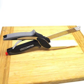 【易麗特】剪刀式切菜神器-贈水果刀2支