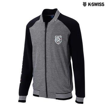 K-Swiss Jacquard Jacket休閒外套-男-黑