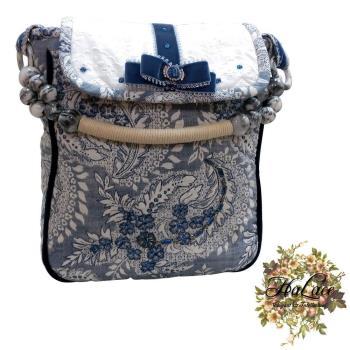【HaLace創意手工拼布包】青花瓷提花手拿包