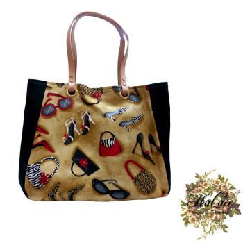 【HaLace創意手工拼布包】日系棉布淑女三層包