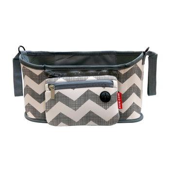 多用途保溫嬰兒推車整理袋(波紋/黑/白)
