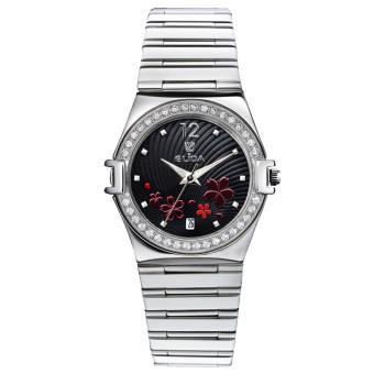 【ELIDA】璀璨花漾晶鑽石英錶(EA2919DMS-DF)