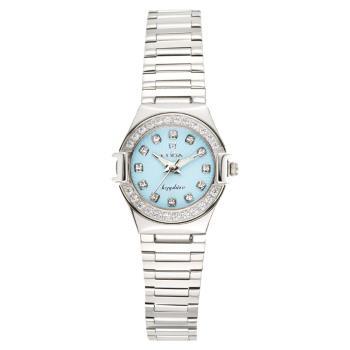 【ELIDA】馬卡龍晶鑽腕錶-粉藍(EA2919LS-B)
