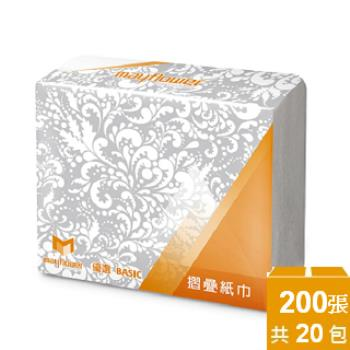 五月花摺疊紙巾 MFP200張x20包/箱