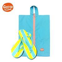 【GO TRIP 尚旅】極輕量防潑水海灘鞋收納袋 螢光藍