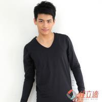 3M-佳立適-升溫蓄熱保暖衣-男V領-黑色