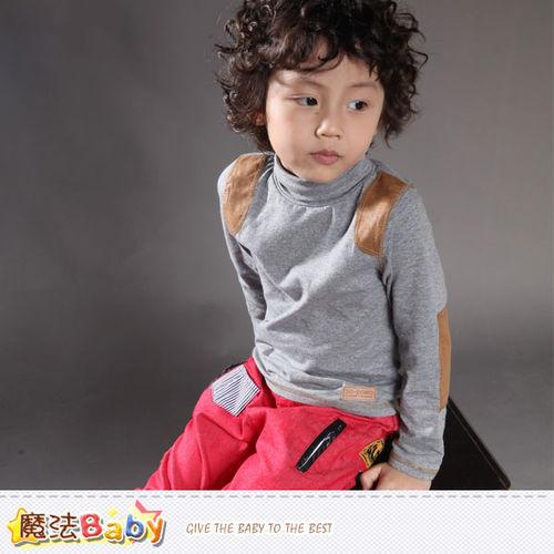 魔法Baby~童裝 專櫃品牌流行童裝高領長袖T恤 ~k37357