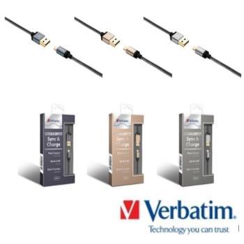 Verbatim 威寶 Micro USB Cable 圓線/尼龍編織線(120cm)-3色