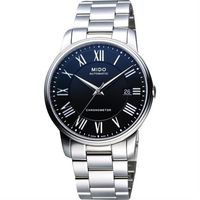 MIDO Baroncelli III 天文台認證羅馬機械腕錶-黑/39mm M0104081105309