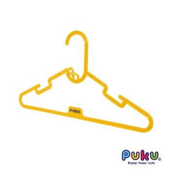 任-PUKU藍色企鵝 - 彩虹糖衣架6入(黃色)