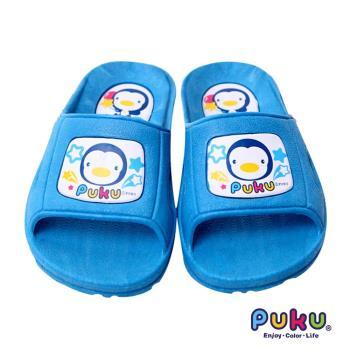 任-PUKU藍色企鵝 學步拖鞋16號(水色)
