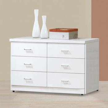 Bernice-特斯4尺白色六斗櫃