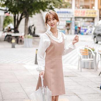 MurMur~韓國空運 韓劇推薦款 顯瘦背心洋裝-共二色(預購)