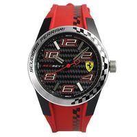 Scuderia Ferrari 法拉利 時尚碳纖維紋運動錶-黑/44mm/FA0830338