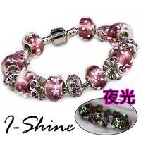 【I-Shine】尊寵愛-潘朵拉風 夜光琉璃串珠晶鑽手鍊