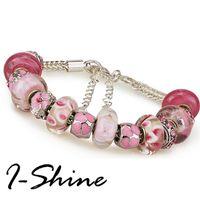 【I-Shine】獨占愛-潘朵拉風 銀箔琉璃串珠晶鑽手鍊