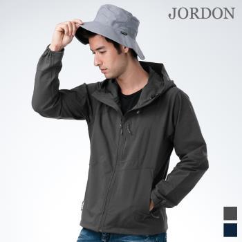 【JORDON 橋登】男款透氣 防風連帽戶外 軟殼衝鋒衣 男外套755
