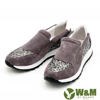 W&M 麂皮直套式戶外運動鞋 女鞋-灰(另有黑)