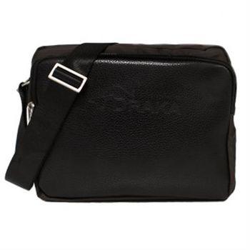 DRAKA達卡 - 都會簡約防潑水隨身包-咖啡色橫包-斜背包/側背包/肩背包