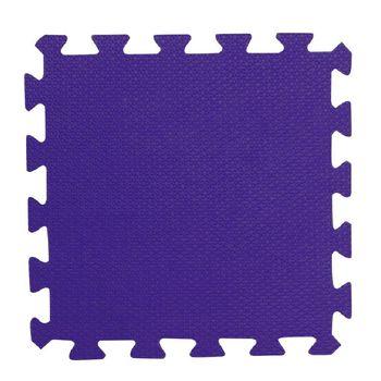 【新生活家】易清洗鑽石紋抗菌地墊32x32x1cm48入-俏皮紫