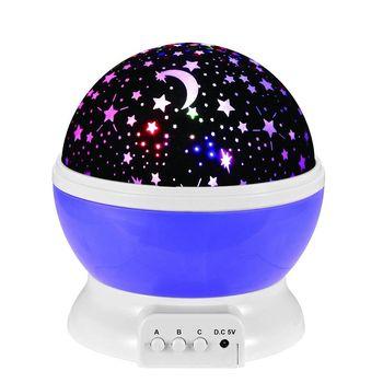 LED USB七彩星空旋轉燈