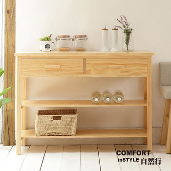 CiS自然行實木家具 電器櫃-碗盤櫃-雜貨櫃-置物櫃W110cm(扁柏自然色)