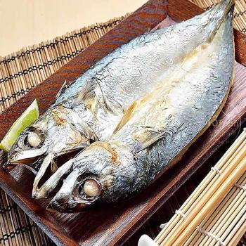 愛上新鮮-南方澳大尾薄鹽鯖魚*12包(2隻/包)