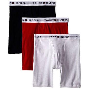 【Tommy Hilfiger】2016男時尚黑紅白色混搭四角修飾內著3件組(預購)