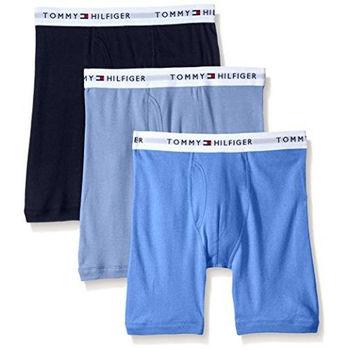 【Tommy Hilfiger】2016男時尚藍色系混搭四角修飾內著3件組(預購)