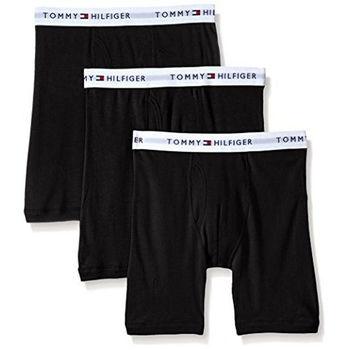 【Tommy Hilfiger】2016男時尚黑色四角修飾內著3件組(預購)
