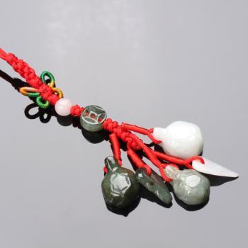 【雅紅珠寶】滿載而歸(龜)冰種緬甸玉墜子-吊飾/項鍊