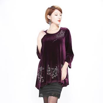 黛儷專業加大訂製精品絲絨洋裝