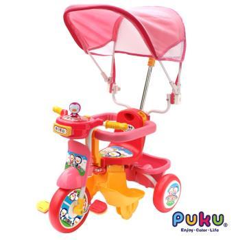 PUKU藍色企鵝 - 遮陽三輪車(粉紅色)