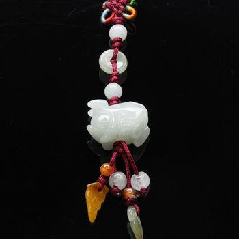 【雅紅珠寶】豬你事業有成冰種緬甸玉墜子-吊飾/項鍊