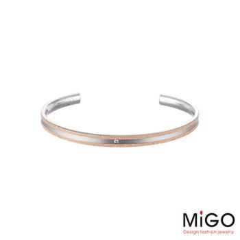 MiGO 星空施華洛世奇美鑽/白鋼手環-小(玫瑰金)