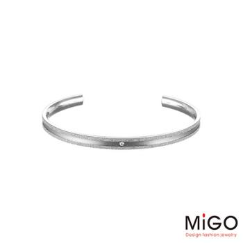 MiGO 星空施華洛世奇美鑽/白鋼手環-小