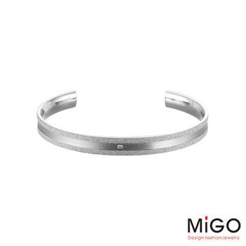 MiGO 星空施華洛世奇美鑽/白鋼手環-大
