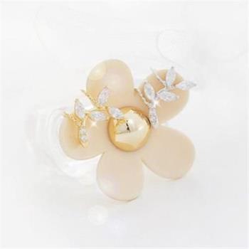 【米蘭精品】925純銀耳環耳夾式鑲鑽耳飾無耳洞時尚精美韓版2色73ag150