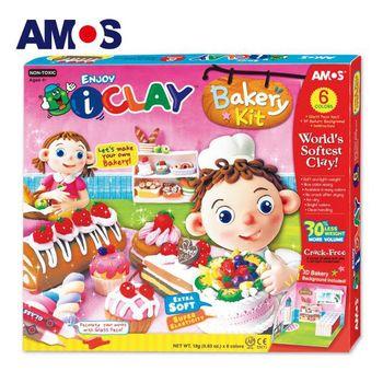 【BabyTiger虎兒寶】韓國 AMOS 6色 18克 蛋糕 DIY 超輕黏土