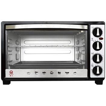 【晶工】30L雙溫控不鏽鋼旋風烤箱JK-7600